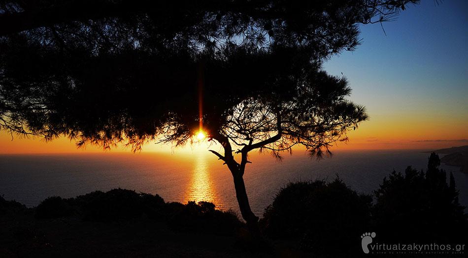 sunset keri zante zakynthos